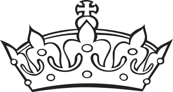 black royal crown clipart - Crown Outline Clip Art