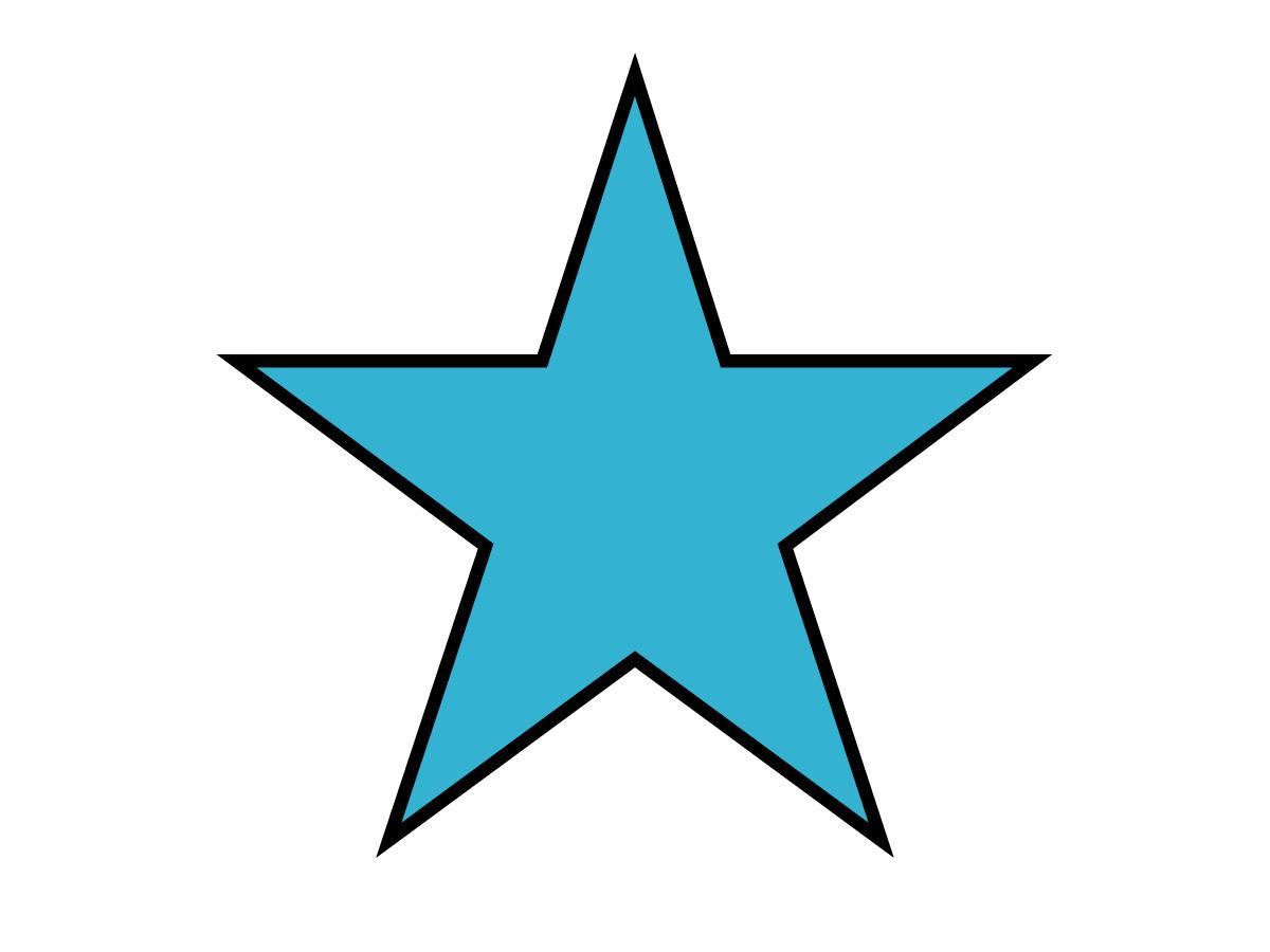 black star outline