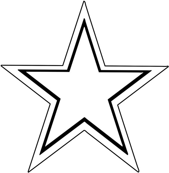 black star outline
