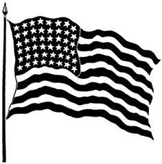 Black American Flag Clipart