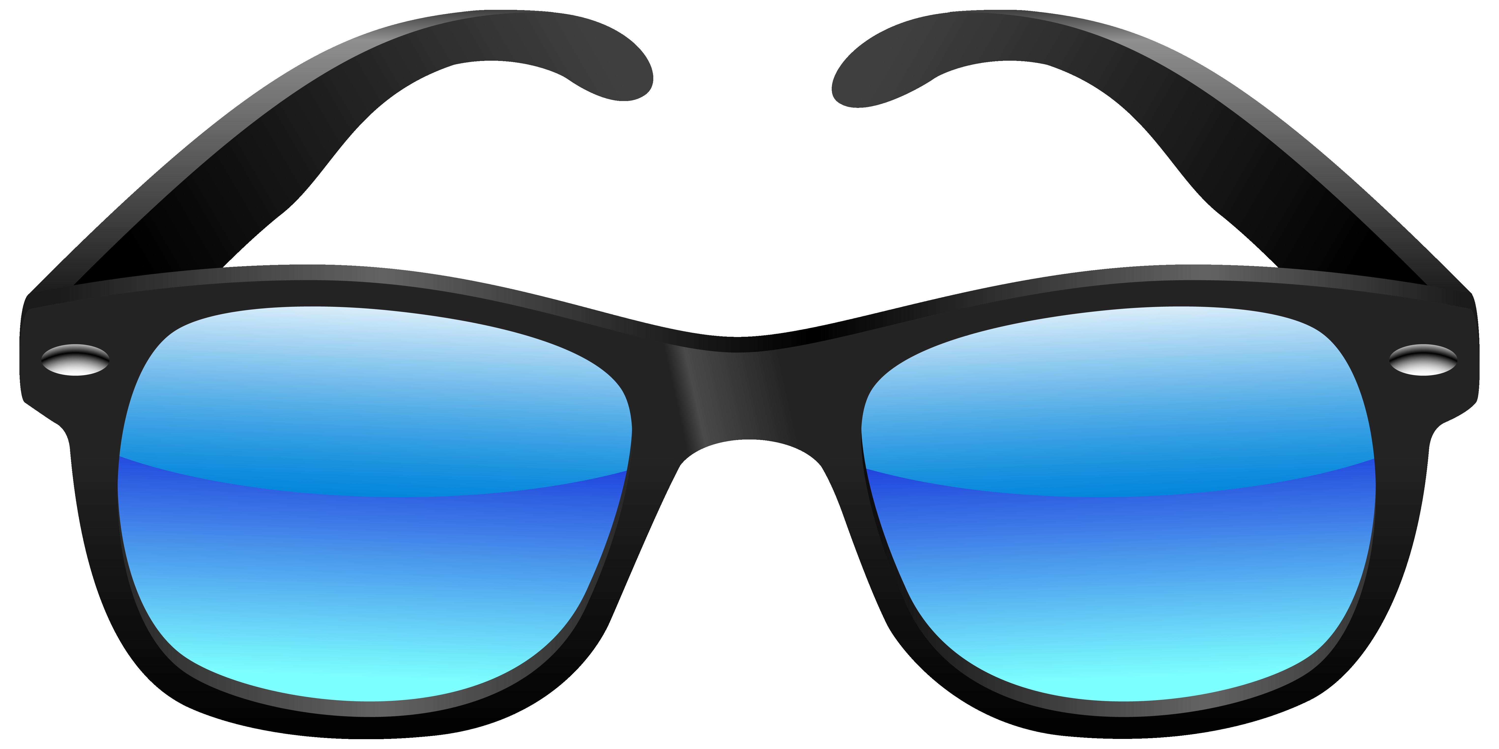 Black And Blue Sunglasses Clipart Image-Black and blue sunglasses clipart image-2