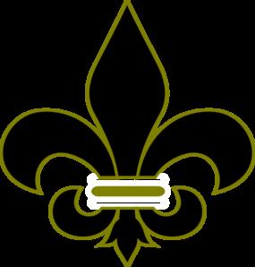 Black And Gold Fleur De Lis Clip Art