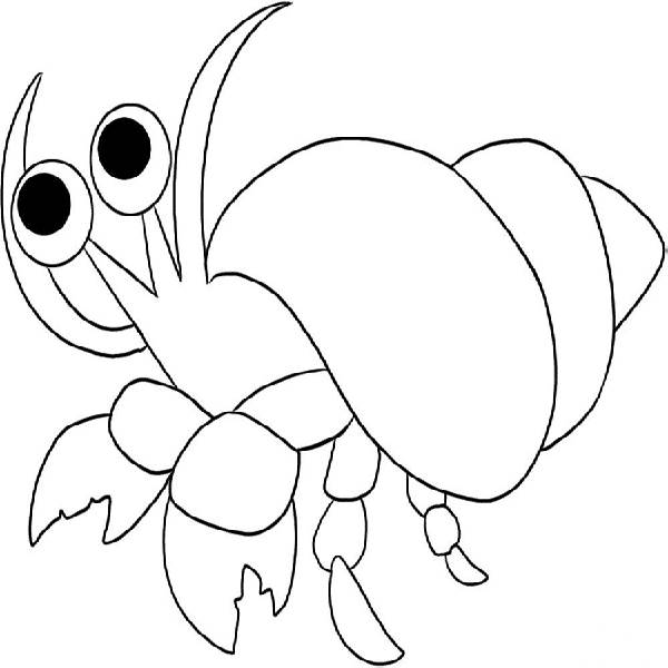 black and hermit crab Colouring Pages (page 3)