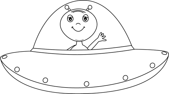 Black and White Alien in UFO