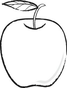 Black And White Apple 0515-Black And White Apple 0515-14