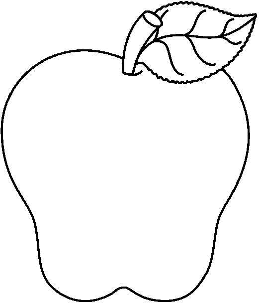 Black and white apples clipart. Clip Art Coloring