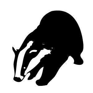 Black And White Badger Clipart