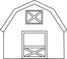 Black and White Barn with Hay clip art image. A free Black and White Barn with Hay clip art image for teachers, classroom lessons, scrapbooking, ...