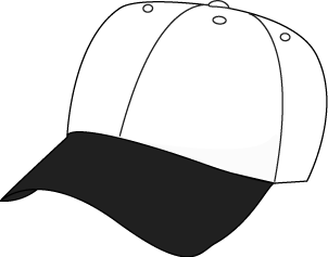 Black And White Baseball Hat-Black and White Baseball Hat-1