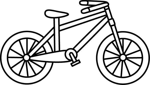 Black and White Bicycle - Bike Clip Art
