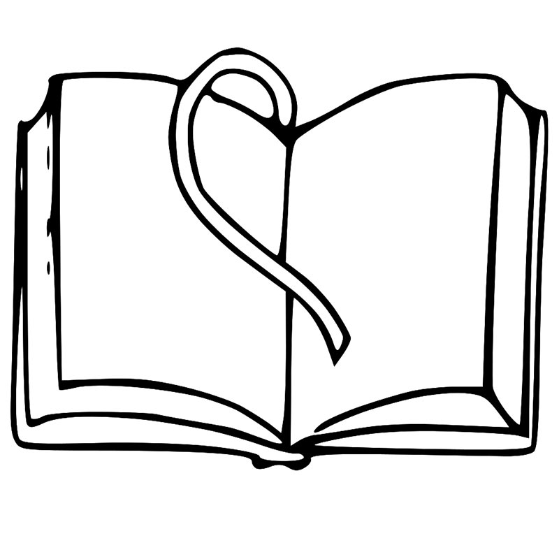 black and white book clipart-black and white book clipart-10