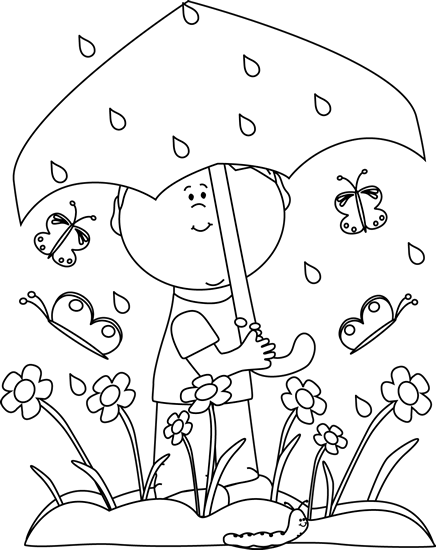 Black and White Boy in Spring Rain-Black and White Boy in Spring Rain-11
