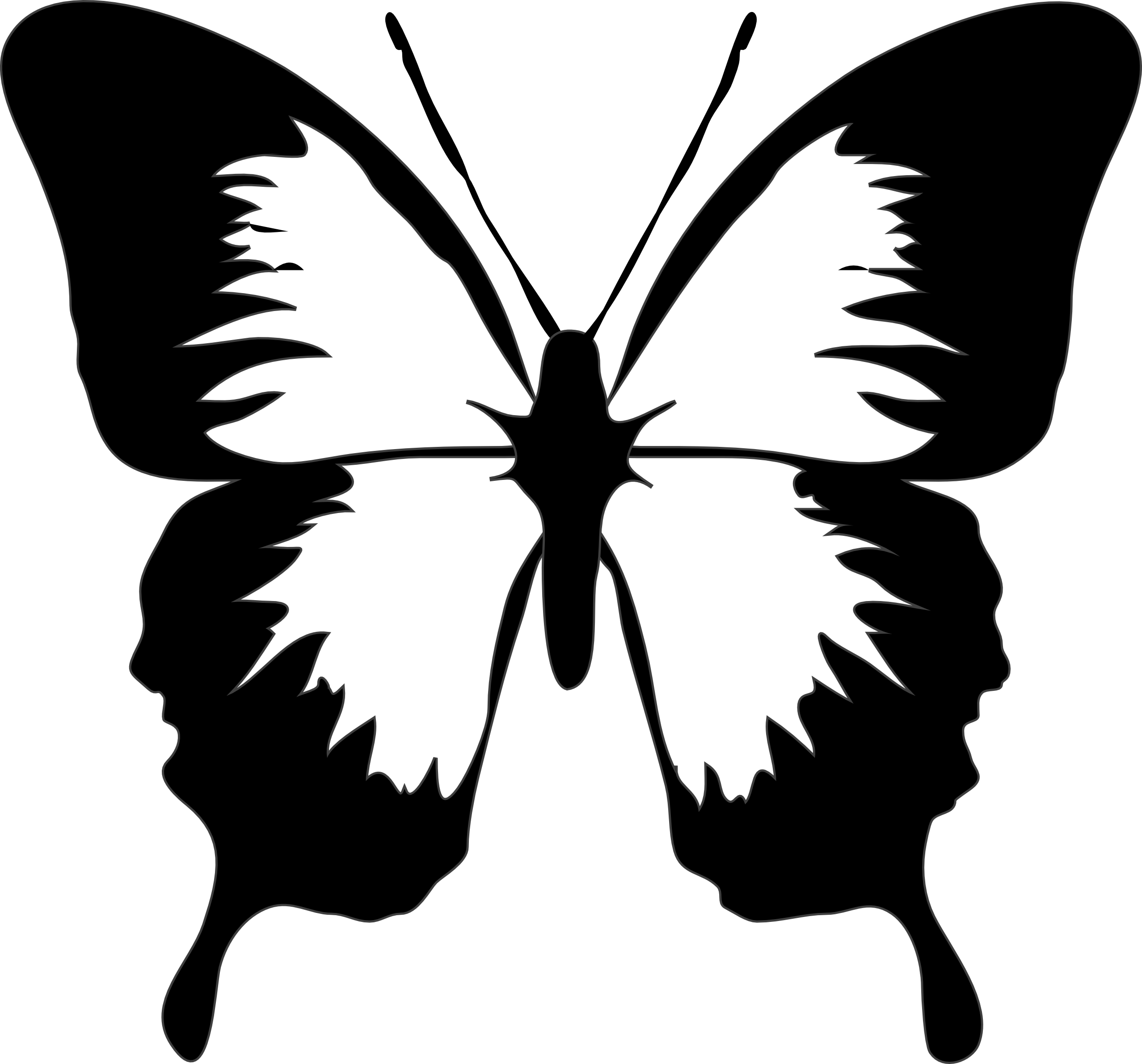 Black And White Butterfly | Free Download Clip Art | Free Clip Art ..