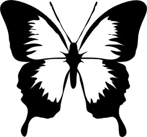 black and white butterfly tattoos for women | Butterfly clip art - vector clip art online
