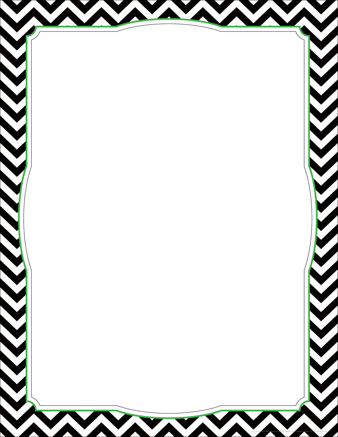 Black And White Chevron Paper - Clip Art Border