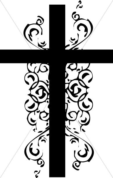 Black And White Christian Cross Clipart-Black and White Christian Cross Clipart-2