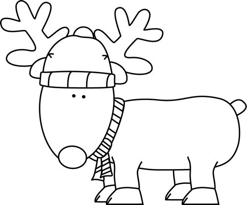 Black And White Christmas Clipart