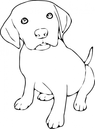 Black And White Clipart Dog