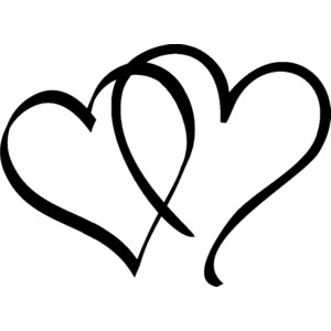 Heart black and white. Clipart clipartlook