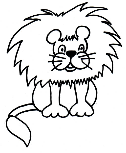 Black And White Clipart Of Lion Jpg