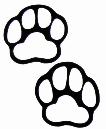 Black And White Clipart Of Paw Print. Bear Print Clipart - Clipart .
