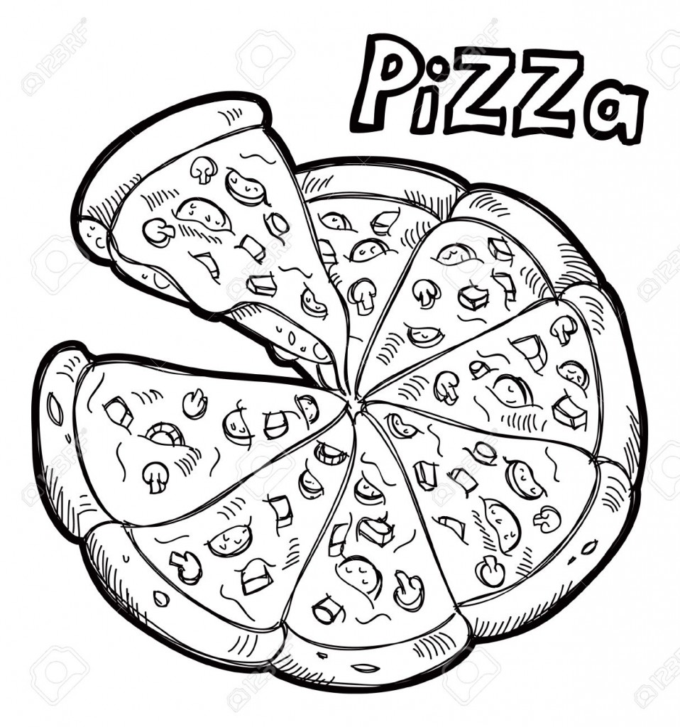 black and white clipart pizza ... Pizza -black and white clipart pizza ... Pizza Doodle Royalty Free .-12