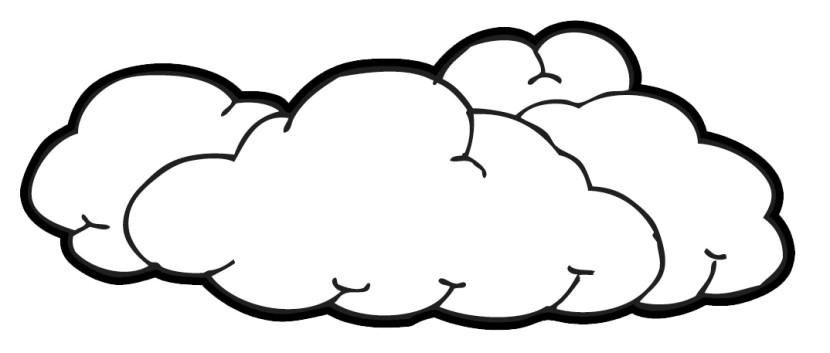 Black And White Cloud Clipart - Cloud Clipart
