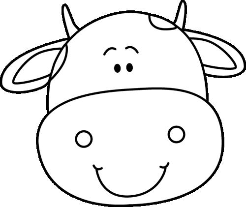 Cow Face Clip Art