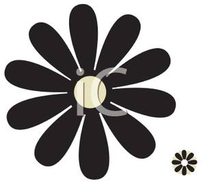 Black And White Daisy Royalty Free Clipa-Black And White Daisy Royalty Free Clipart Picture-11