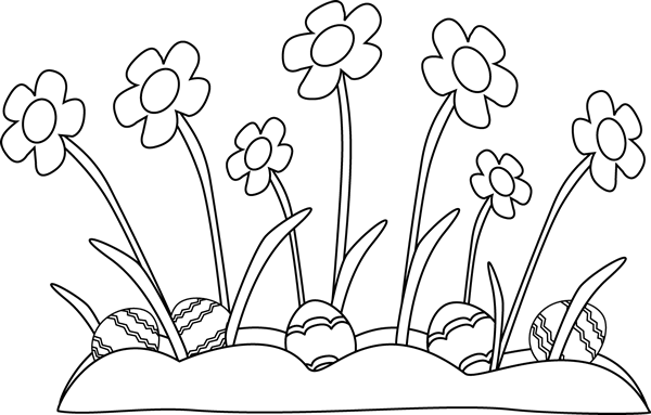 Easter Clip Art Black And White