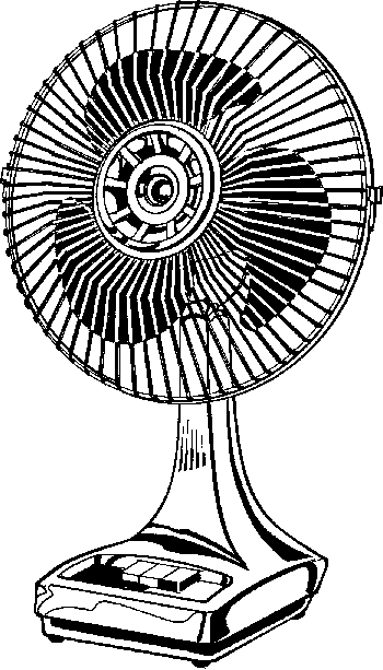 Black And White Fan Clipart - Fan Clip Art