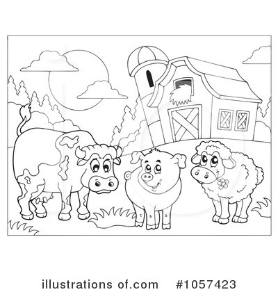 Black And White Farm Clip Art Farm Anima-Black And White Farm Clip Art Farm Animals Clip Art Black And White-6