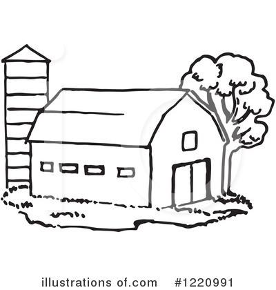 Black And White Farm. Royalty-Free (RF) Farm Clipart .