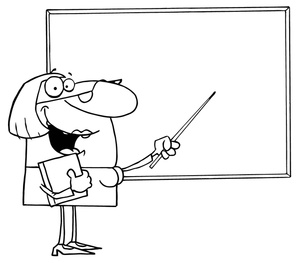 Black And White Female Teacher Pointing To A Whiteboard 0521 1005 1515