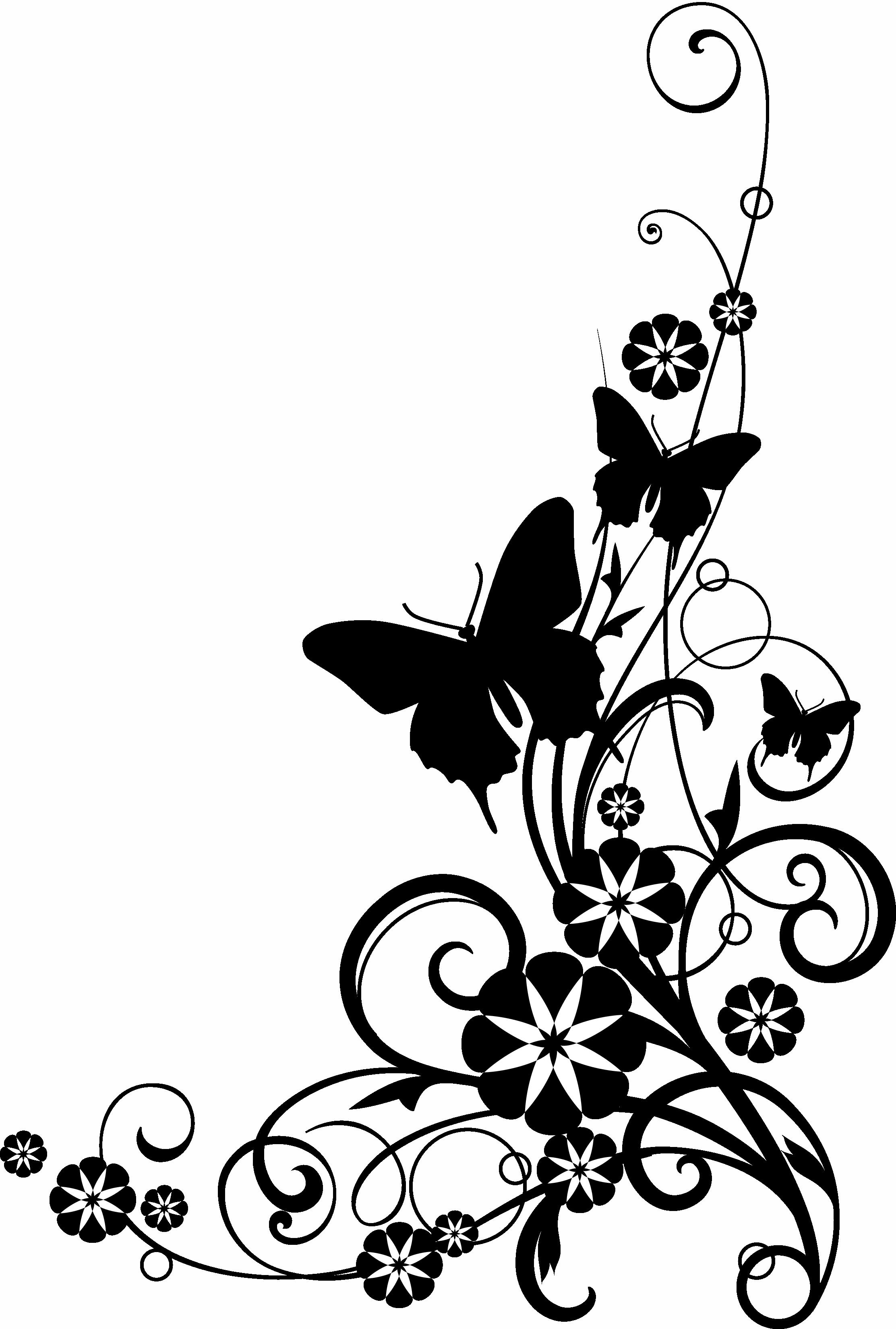 Black And White Flower Border Clipart At-Black And White Flower Border Clipart Atek9ba6c Png-14