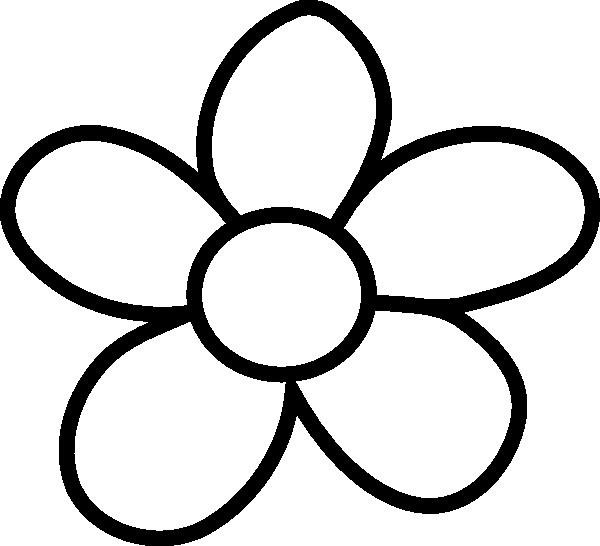 Black And White Flower Clip .