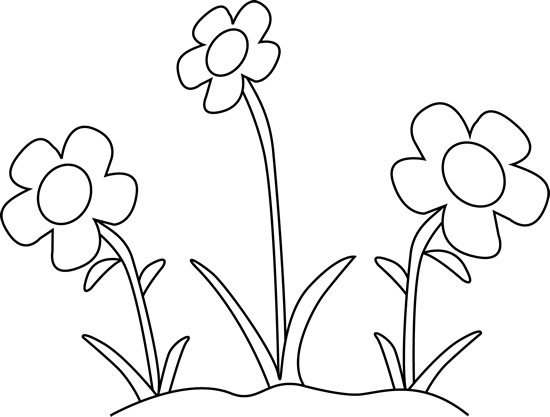 Black And White Flower Garden Clip Art B-Black And White Flower Garden Clip Art Black And White Flower Garden-4