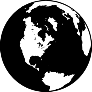Black And White Globe Clip Art-Black And White Globe Clip Art-11