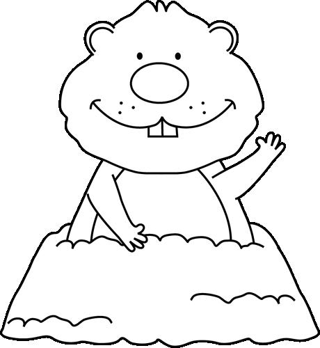 Black And White Groundhog-Black and White Groundhog-0