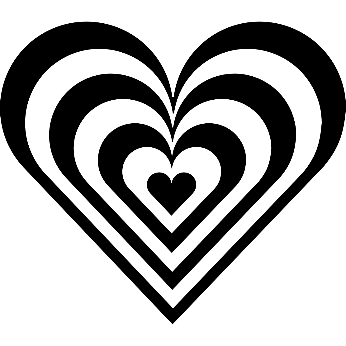 Black And White Hearts Clip Art ..