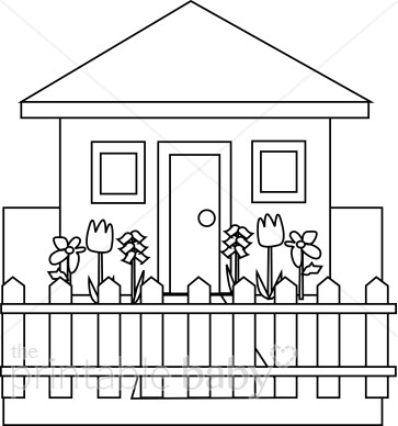 Black And White House Clipart - House Clipart Black And White