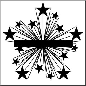 Black And White Illustration Starburst C-Black And White Illustration Starburst Clip Art Graphic Member-1