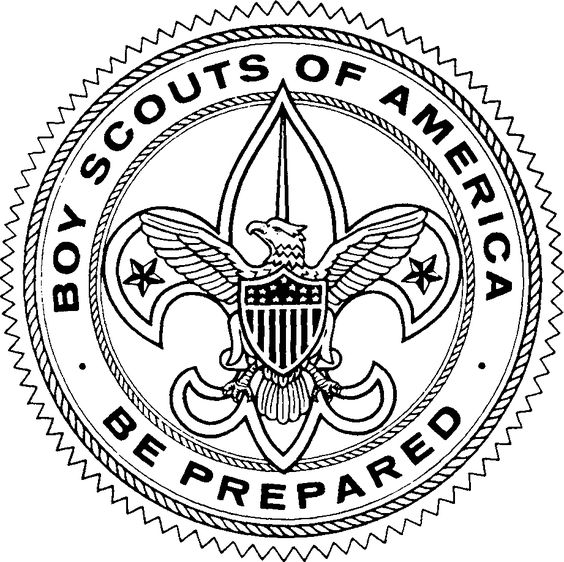 Black and white large size downloadable scout clipart badge emblem.