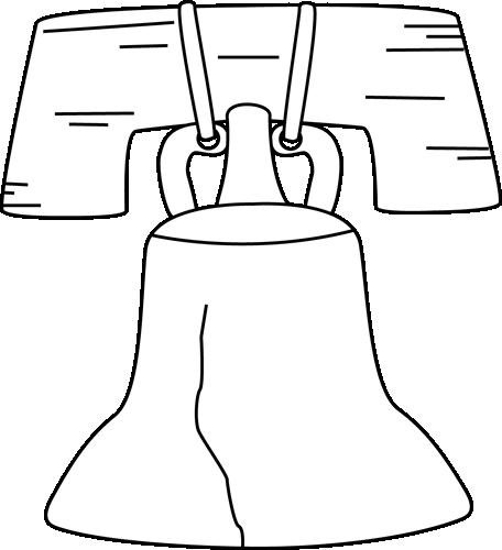 Black And White Liberty Bell Clip Art Im-Black And White Liberty Bell Clip Art Image Black And White Outline-9