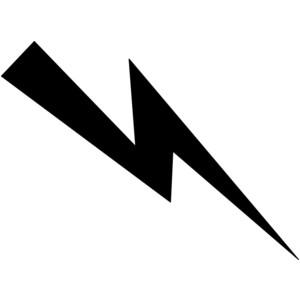 Black And White Lightning Bolt Clipart B-Black And White Lightning Bolt Clipart Best-2