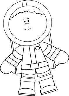 Black and White Little Boy Astronaut clip art image. A free Black and White Little Boy Astronaut clip art image for teachers, classroom lessons, ...