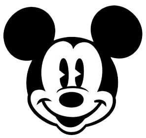 Black And White Mickey Mouse Head Mickey Mouse Face Clipart