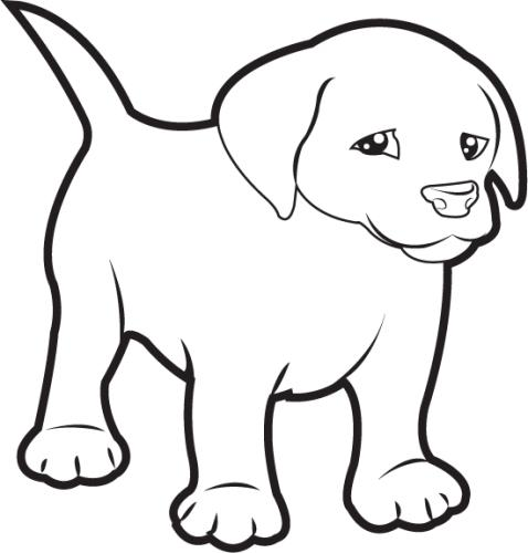 ... Black And White U0026middot; Puppy C-... Black And White u0026middot; Puppy Clipart-9