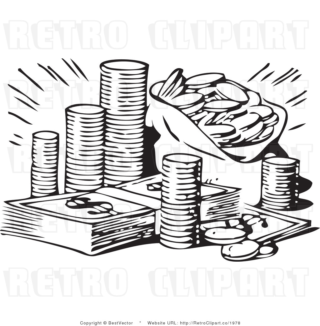 Black And White Money Clip Art-Black And White Money Clip Art-1