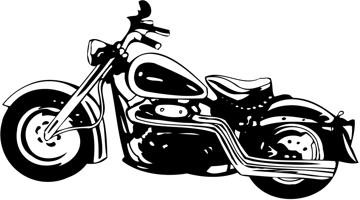 Black And White Motorcycle Art Cliparts Co